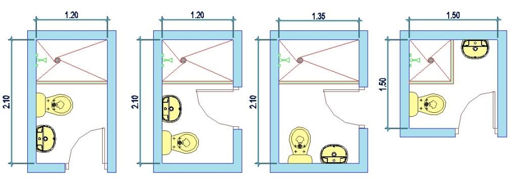 Medidas De Baños Mínimos A T Ingeniería Y Construcción